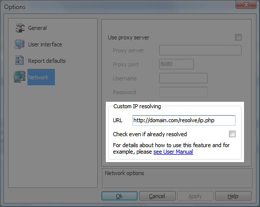 Custom IP resolving
